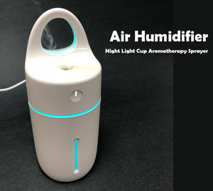 Air Humidifier Night Light Cup Aromatherapy Sprayer For Car Home office & Travel - #ASSRY-70518
