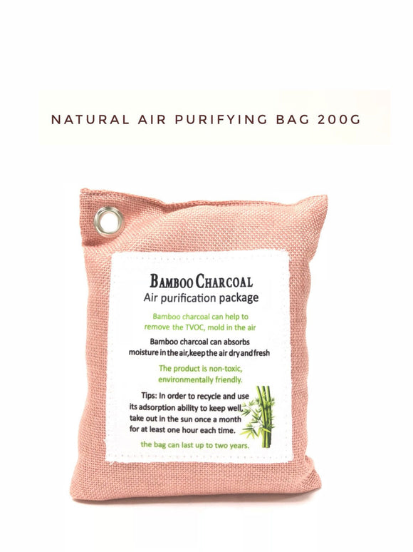 Natural Charcoal Air Purifying Bag Fragrance Free, Chemical Free, Odor Absorber 300g - #ASSRY-71000