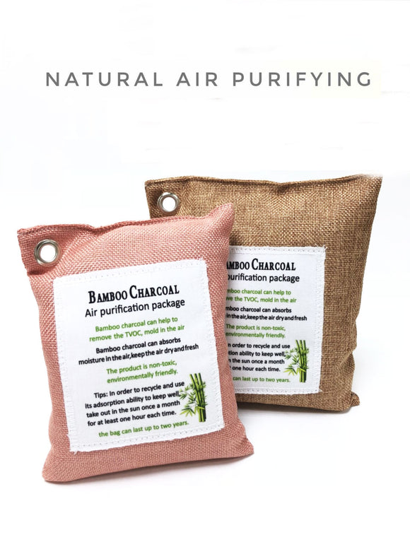 2 x Natural Charcoal Air Purifying Bags Odor Absorber 200gx1 and 300gx1 - #ASSRY-71100