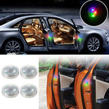 4 PCS Car Door Warning Light 5 LED Wireless Safety Anti collision Alarm Lamp - #ASSRY-73664