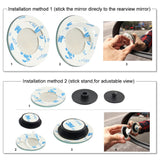 Blind Spot Mirror Rimless HD Glass Wide Angle 360° Convex Mirror Car Side Mirror Stick On RearView Car SUV Motorcycle Universal Fit - #BSKIT-36000