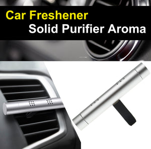 Air Freshener Car Perfume Vehicle Solid Air Purifier Aroma with 3 Scented-Sliver - #ASSRY-70210