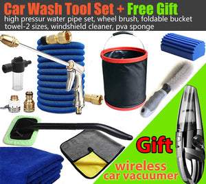 Car Wash Tool Kit Set High Pressure Water Gun Pipe+Free Gift-Wireless Vacuumer - #CWASH-F001