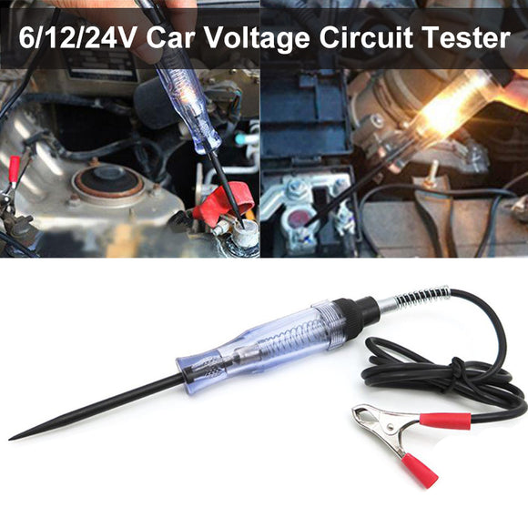 6/12/24V Car Voltage Circuit Tester System Long Probe Continuity Test Light Pen - #FUSEO-70171