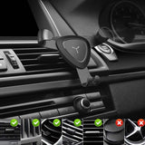 "Universal Air Vent Gravity Auto Lock Metal Car Phone Holder For 4-6"" Phone-Black - #GCH-3301"