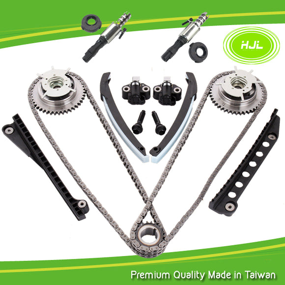 5.4L Ford Lincoln Triton Timing Chain Kit+Phasers+VVT Valves+Gaskets - #HJ-04160-VS