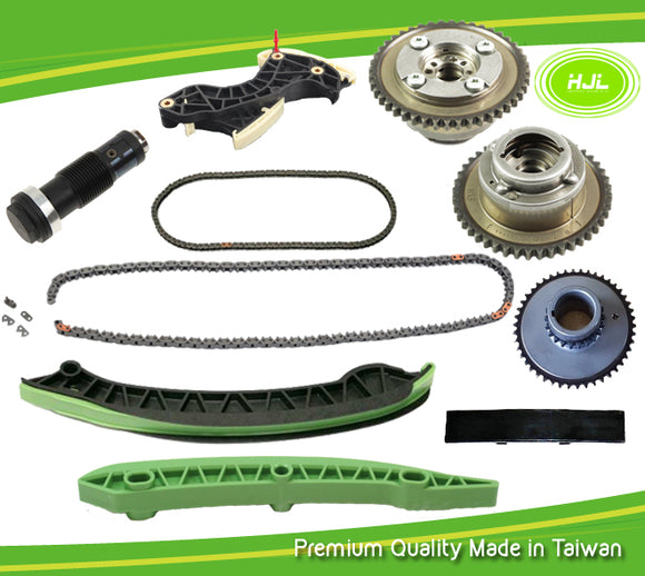 TIMINIG CHAIN KIT+ 2 PCS CAMSHAFT VVT GEARS FIT MERCEDES BENZ M271 TURBO CHARGED 1.8 L C250 W204 SLK250 4 CYLINDER PETROL ENGINE - #HJ-32012