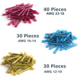 200 Pcs Solder Seal Butt Connectors & Heat Shrink Wire Terminals Kit 26-10 GA - #HSKIT-18330