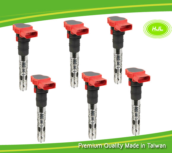 6 PCS Ignition Coil For Porsche Cayenne Panamera 3.0 S E-Hybrid 95860210200 - #98588-73106