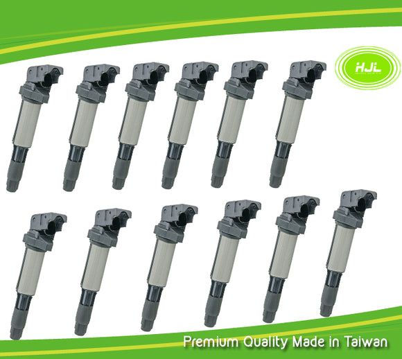 12 PCS Ignition Coil For BMW E65 E66 760i 760Li N73B60 6.0L 12138657273 - #02373-73112