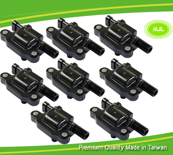 8 PCS Ignition Coil For Chevrolet GMC Buick V8 4.8 5.3 6.0L 12570616 12611424 - #37023-73108