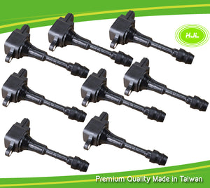8 PCS Ignition Coil For Infiniti FX45 M45 Q45 4.5L V8 VK45DE 22448-AR215 - #49169-73108