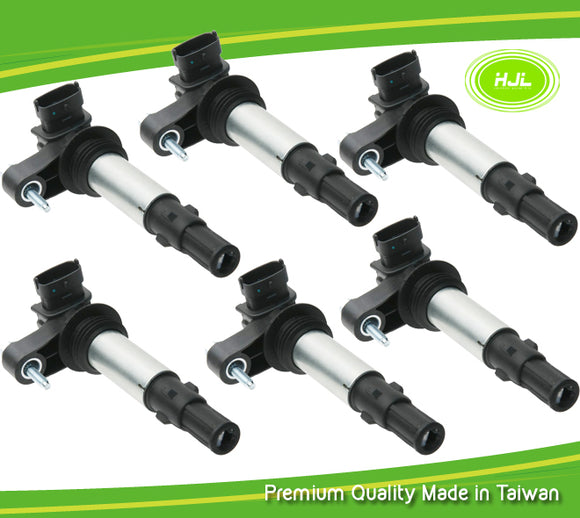 6PCS Set Ignition Coil For Saab 9-3 2.8T V6 Turbo YS3F B284 12629037 2005-15 - #92005-73106