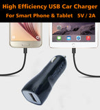 12V Car Charger USB Adapter 5V/2A Output For Smart Phone,Tablet and Power bank - #KC-U001