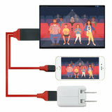 Lightning to HDMI HDTV AV Cable Adapter For iPad iPhone 11/X/XS/6/7/8 Plus Red - #MOBIL-689X1