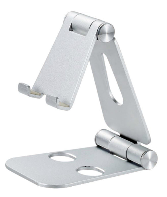 "Foldable Smart Phone/Tablet (3-10"")Stand Aluminum alloy Angle-Adjustable-Silver - #MOBIL-91973"