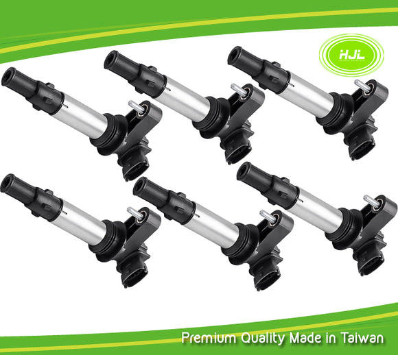 6PCS Set Ignition Coil For OPEL Vauxhall Signum Vectra C 2.8 V6 Turbo 12629037 - #62818-73106