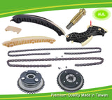 TIMING CHAIN KIT+CAMSHAFT ADJUSTERS FOR MERCEDES M271 VANOS 1.8 L PETROL KOMPRESSOR C180 C200 C230 - #HJ-32007-V