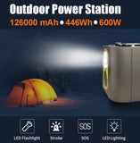 Outdoor Power Station 126000mAh 600W w/AC output 110V Pure sine wave JumpStarter - #S6600