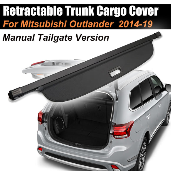 Retractable Trunk Cargo Cover For Mitsubishi Outlander 2014-2019 Manual Taigate - #39152-21200