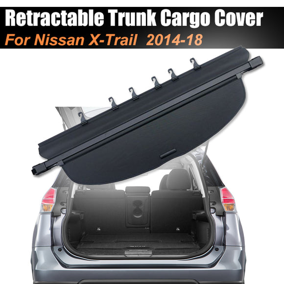 Retractable Trunk Cargo Cover Luggage Shade Shield For NISSAN X-Trail 2014-2018 - #49718-21200