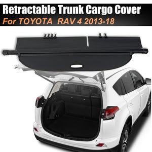 Retractable Trunk Cargo Cover Luggage Shade Shield For TOYOTA RAV4 2013-2018 - #05813-21200