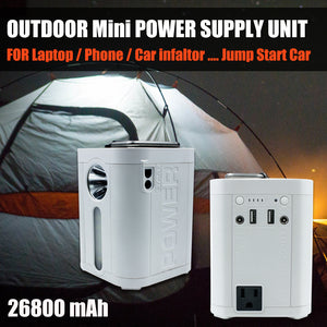 Outdoor Camping Portable Power Supply unit 26800mAh For Laptop w/AC output 110V - #S2600