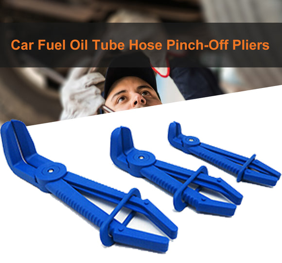 3PCS Set Car Fuel Oil Tube Hose Pinch-Off Pliers Fuel Lines Sealing Curve Clamps
