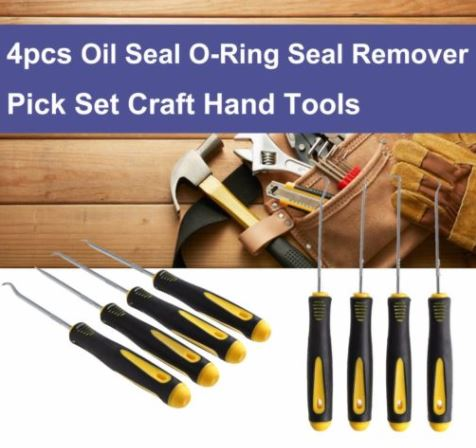 4 Pcs/Set Durable Car Hook Oil Seal O-Ring Seal Remover Pick Set Craft Hand Tools - #TOKIT-99844