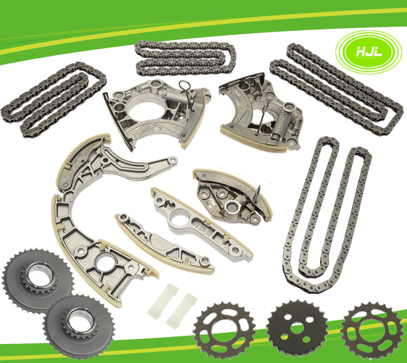 Timing Chain Kit For AUDI S5 A6 S6 A8 Q7 VW TOUAREG 4.2L V8 5.2L w/Gears - #HJ-01018