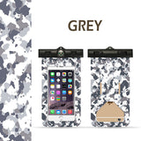 Camo Waterproof Underwater Pouch Bag Dry Case Cover+Compass for Cell Phone Fun - #MOBIL-20000