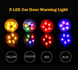 2 PCS Car Door Warning Light 5 LED Wireless Safety Anti collision Alarm Lamp - #ASSRY-73662