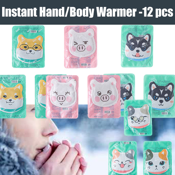 12 Packs Warmer Long Lasting 8-Hour Air Activated Instant Heating Cute animals