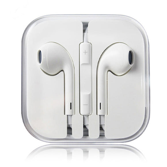 New Earphones EarBuds For iPhone 4 5 6 with Microphone and volume control - #AE-5601