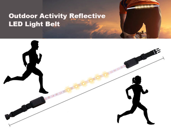 Cycling Outdoor Activity Reflective LED Light Belt Remote Control Rechargeable - #ASSRY-80200