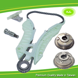 Timing Chain Kit with Camshaft VVT Gears x 2pcs Fit CITROEN C3 C4 PICASSO GRAND PICASSO DS3 DS4 DS5, Engine: EP3 EP6 1.4L 1.6L 2008 - #HJ-03001-V