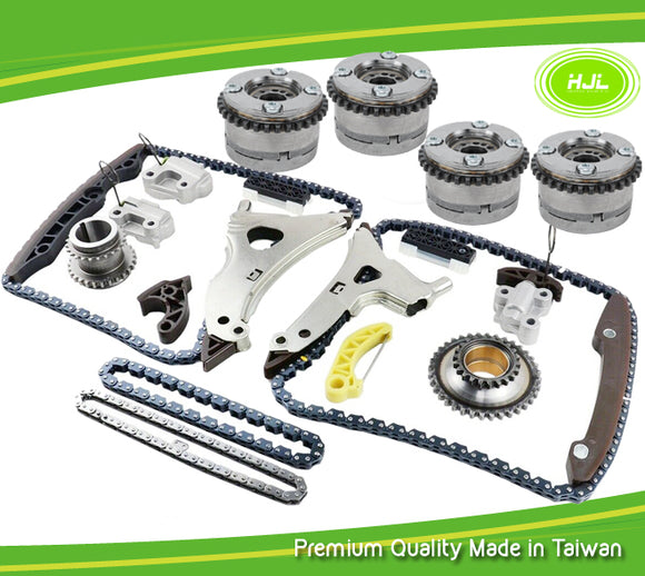 4xCamshaft Adjusters+Timing Chain Kit For Mercedes-Benz W222 W166 M276 E350 C350 - #HJ-32076-V