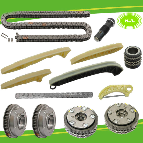 Timing Chain Kit w/Oil Pump Drive Chain+ 4 VVT Gears For Mercedes-Benz M272 M273 - #HJ-32072-FV