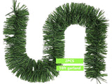 Christmas artificial pine garland outdoor 36ft & 100 LED lights string - #XMAST-10011