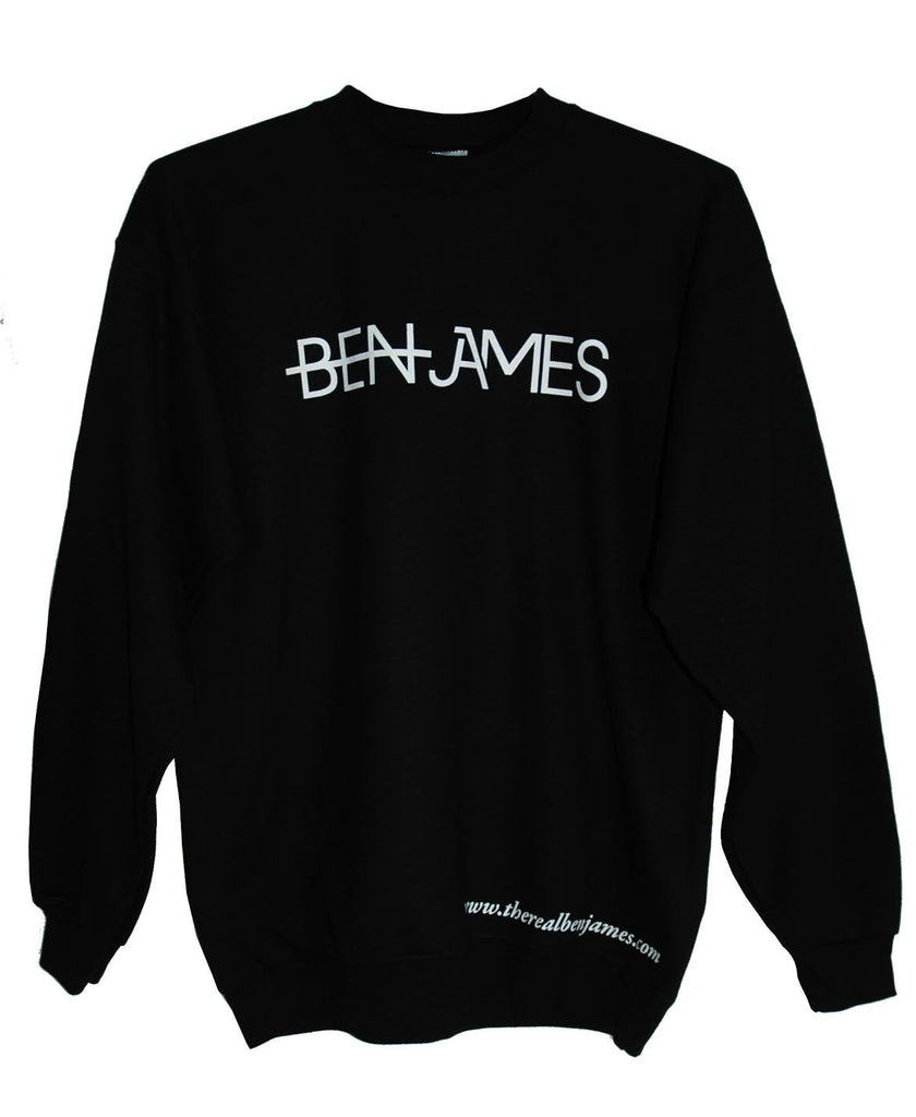 Black Sweatshirt White Letters
