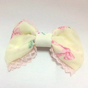 Powder Rose Barrette in Yellow from Angelic Pretty