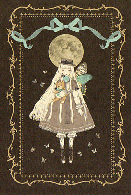 """Girl on her way to the Moon, Like a Circling Planet"" (Girl with Butterfly Wings) Postcard from Imai Kira (#PC-51)"