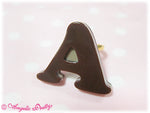 Chocolate Logo Ring (A) in Beige (Mocha) from Angelic Pretty (C)