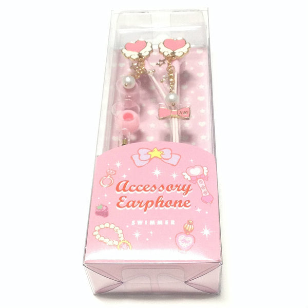 Accessory Earphone (Heart) in Red (Pink) from SWIMMER