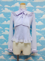 Airy Bow Tie Cutsew in Lavender from Angelic Pretty