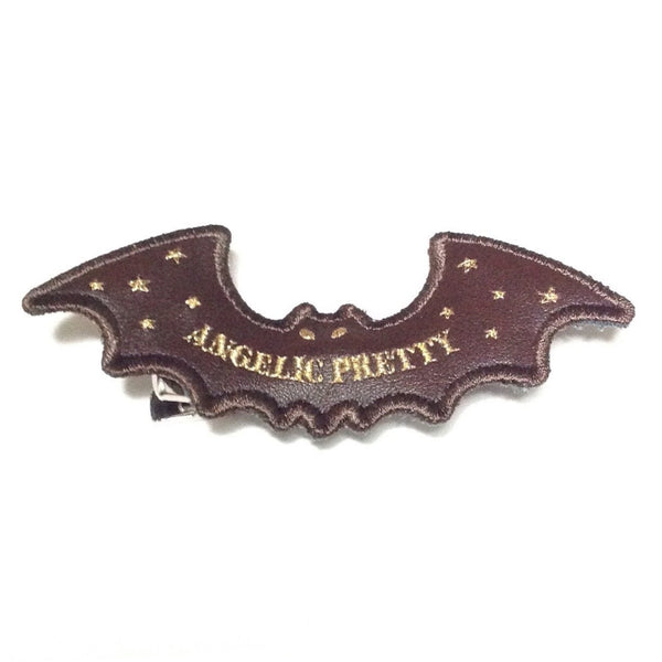 Angelic Bat Clip in Brown from Angelic Pretty