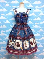 Antique Chocolaterie Special (Pearl) JSK Set in Navy from Angelic Pretty