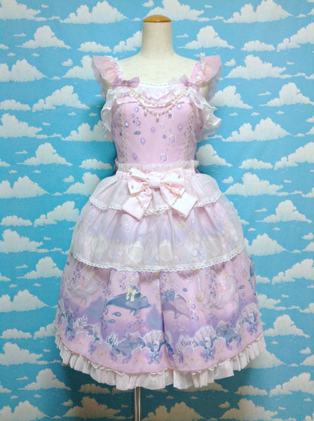 Aquarium Carnival Peplum JSK in Pink from Angelic Pretty