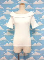 Back Ribbon Off Shoulder Top in White from E Hyphen World Gallery (Bon Bon)