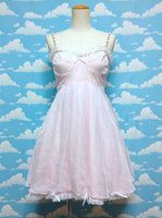 Beads Strap Chiffon JSK in Pink from Swankiss